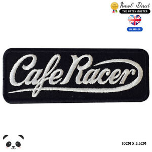 Cafe-Race-Bikers-Embroidered-Iron-On-Sew-On-Patch-Badge-For-Clothes-etc