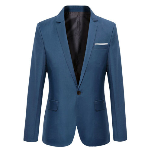 Stylish Men/'s Casual Slim Fit Formal One Button Suit Blazer Coat Jacket Tops