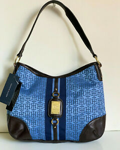 NEW-TOMMY-HILFIGER-ROYAL-BLUE-HOBO-SHOULDER-BAG-PURSE-79-SALE