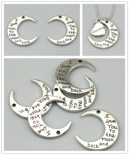 New High quality Silver Moon Pendants Charms Jewelry Findings