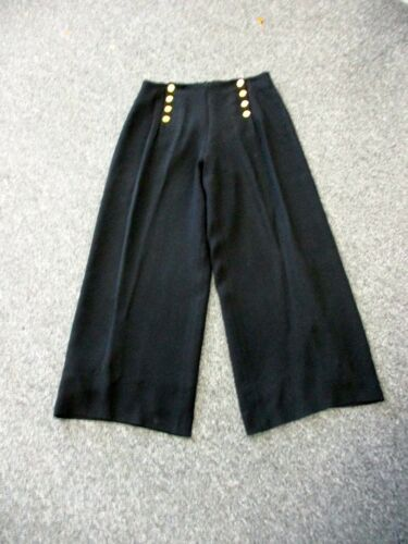 Dd4676 larghe Pantaloni Foderato Bottone Solid anteriore eleganti Gambe Black Pantaloni Sz Zelda 12 4wqg7CUn