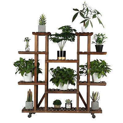 Shelf Indoor Wood Planter Flower Pots