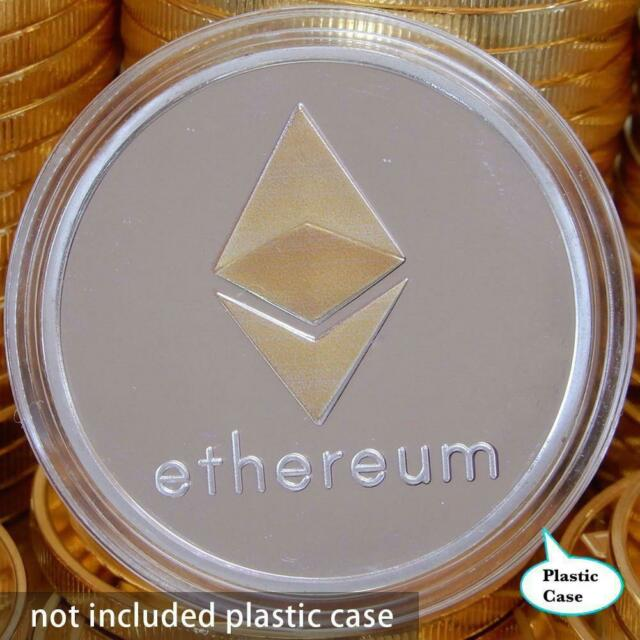 Ether Gold Plated Iron Commemorative Collectible Silver ETH Ethereum Miner Coins