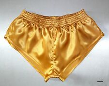Glanzshorts extra kurz L Satin Glanzsporthose silky runner shorts Glanzsatin