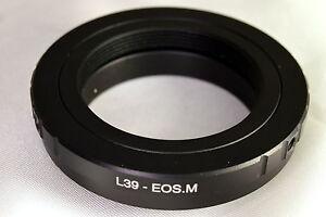 Leica-LTM-M39-Screw-Mount-Objektiv-Adapter-fuer-Canon-EOS-EF-M-mirrorless-Kamera-M10
