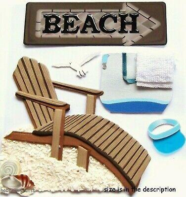 Deckchair Shells Holidays Sand Gull BEACH HOUSE Jolee/'s Boutique 3-D Stickers