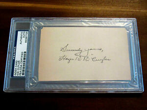 HAZEN-KIKI-CUYLER-1925-WSC-PIRATES-CUBS-HOF-SIGNED-AUTO-INDEX-CARD-PSA-DNA-GEM