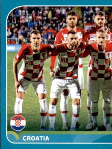 Kroatien Line-up 1//2 EM 2020 Preview Sticker CRO2