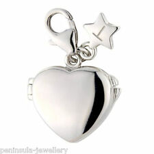 Sterling Silver clip on Charm Tingle Plain Locket with Gift Box and Bag