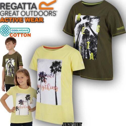 Regatta T Shirt Kids Bosley Outdoor Camping Trip Summer Sport Running Playing