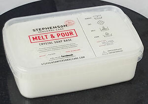 Opaque White Melt /& Pour Soap BaseSLS Freewith Shea Butter 4lb 1.8 kg