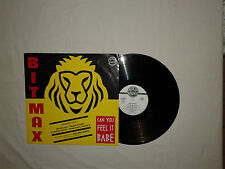 "Bit-Max ‎– Can You Feel It Babe (Remix)‎–Disco 12"" MAXI Vinile ITALIA 1992 House"