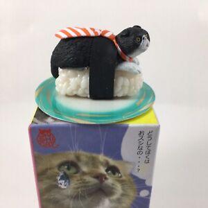 Authentic nekozushi SUSHI CAT Shake-Boo statuina DA COLLEZIONE SU PIASTRA Sushi