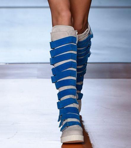 Mujer Cuero MultiColor Hebilla Plana de de de la rodilla botas altas Zapatos Punk Talla Grande 7c946e