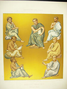 Doctors-Greek-Empire-Of-Byzantium-Emile-Beautiful-Dap-Ciappori-Litho-Xixth-1858