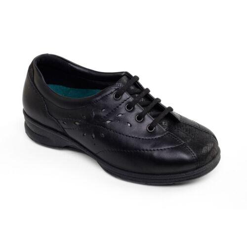 Super Shoes 6e 4e Padders Plus Karen 2 Womens Ladies Up Wide Leather Fit Lace WOXqFOz