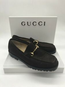 GUCCI women's suede leather lug sole