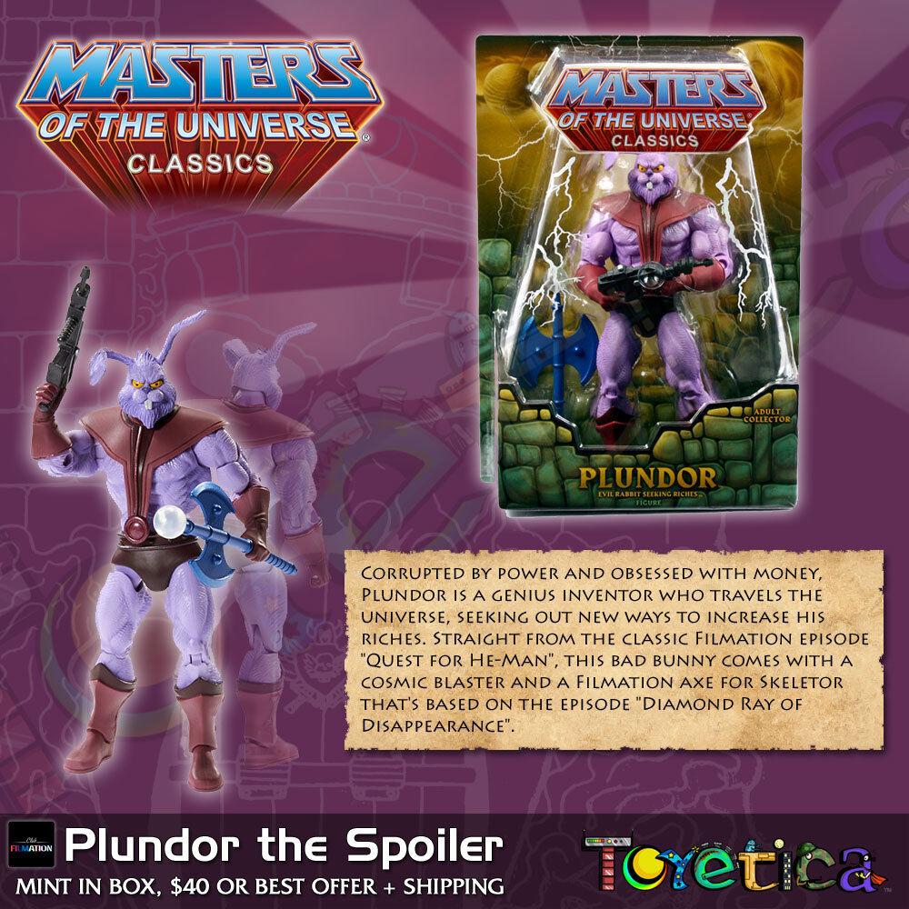 Masters of the Universe Classics PLUNDOR Spoiler 2013 Mattel MOTUC MISB NEW