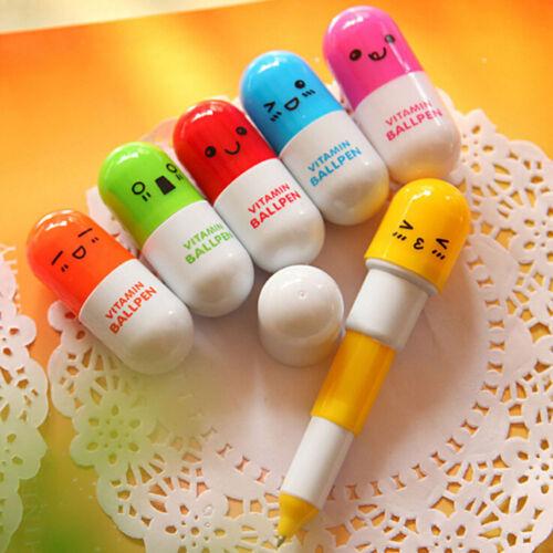 5 Stücke Nette Kapsel Kreative Kugelschreiber Schule Bürobedarf Schreibwaren