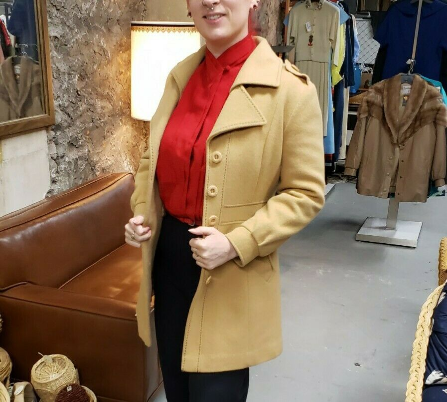 Vintage 70s country Pacer wool camel western prin… - image 3