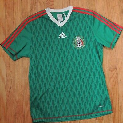 seno Tranquilizar Hito  México Adidas Fútbol Balonpié Camiseta Tamaño Pequeño Verde Rojo Rayas  Clima Cool   eBay
