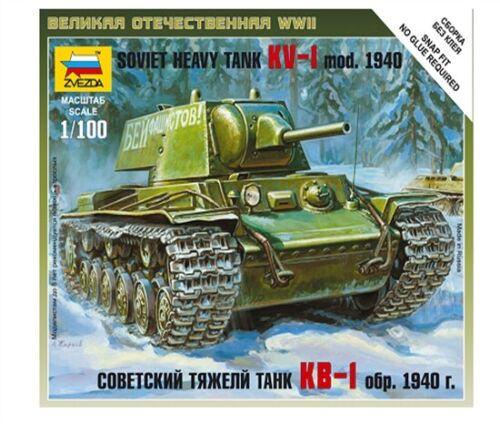 Zvezda 6141-1//100 Wargame Addon Sovietischer Panzer Kv-1 Neu