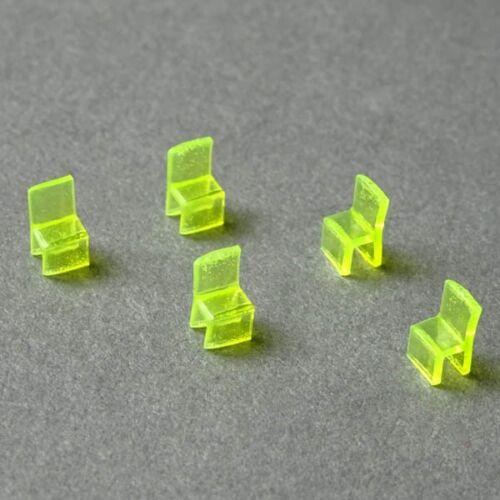 (0,59€/Stück) Stühle aus Acrylglas 1:200 5 Stück transparent gelb
