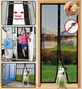 Image Is Loading Instant Mesh Screen Net Door Magnetic Hands Free