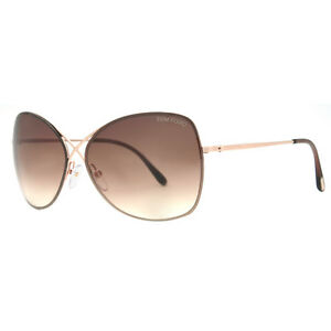 Tom Ford Colette TF 250 28F Rose Gold/Brown Gradient Womens Butterfly Sunglasses