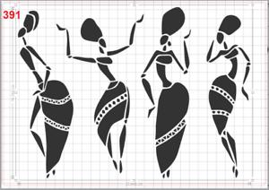 African Women No3 Stencil MYLAR A4 sheet strong reusable Wall Craft Art Deco
