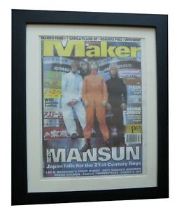 mansun lantern melody maker 1996 poster ad framed rare original fast