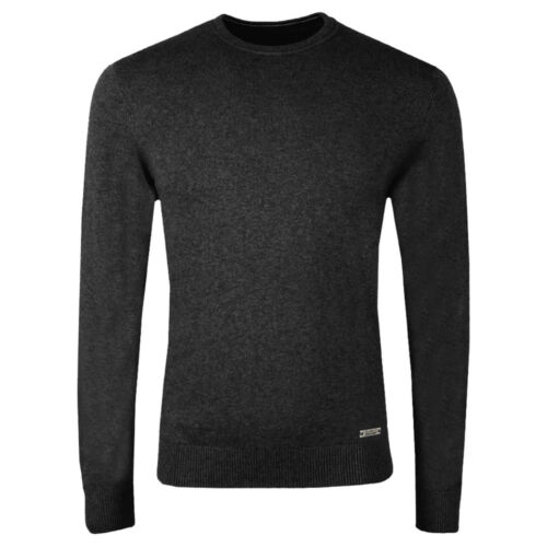 Mens V Neck Jumper Stallion Knitwear Crew Neck Sweaters Top Pullover Jacket New