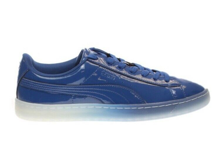 Puma Basket Patent Ice Fade Shoes Men's Sneakers 363094-02 Royal Blue Comfortable