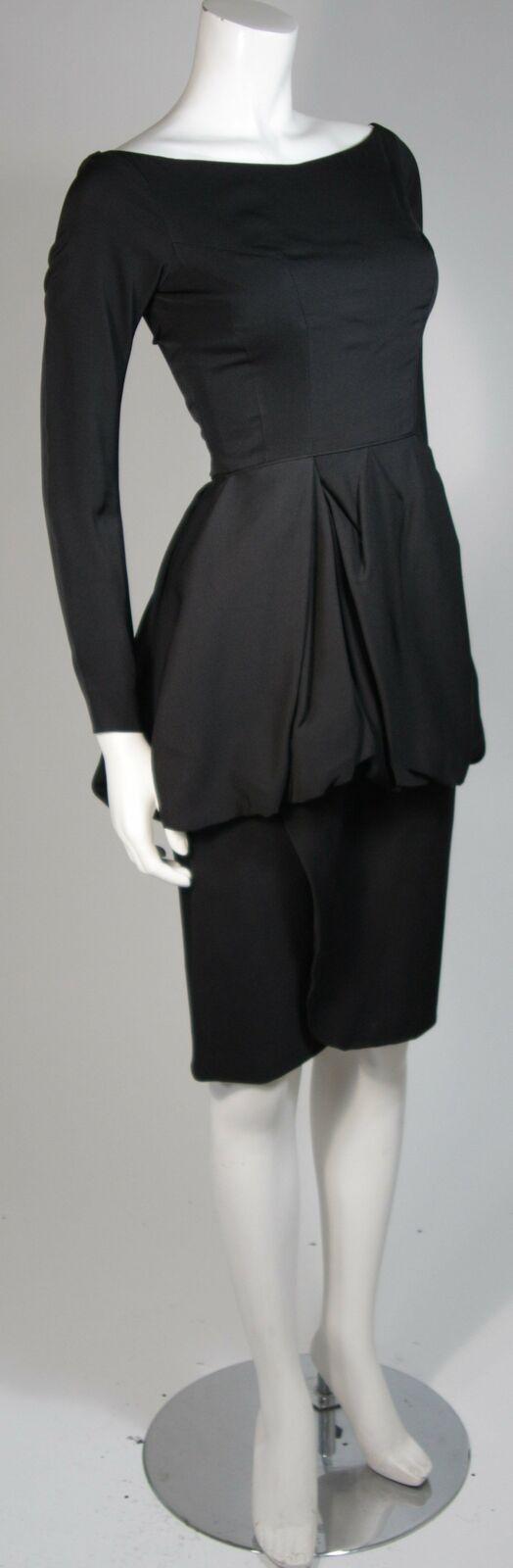 CEIL CHAPMAN Black Draped Princess Style Waist Dr… - image 4