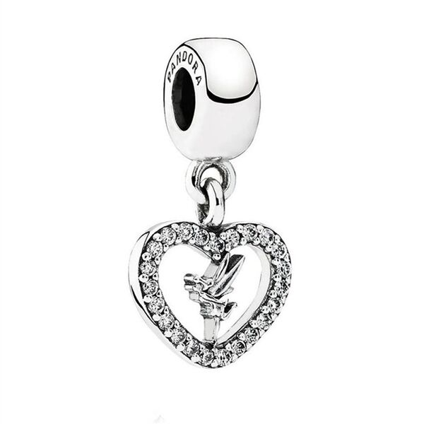 Be Magical Disney Heart Solid Bracelet Charm Sterling Silver S925 4DLLgC2jX0