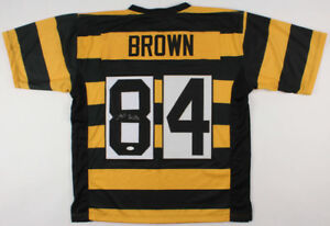 super popular 7a9b5 25893 Details about Antonio Brown Signed Pittsburgh Steelers Jersey (JSA) 6× Pro  Bowl Wide Receiver