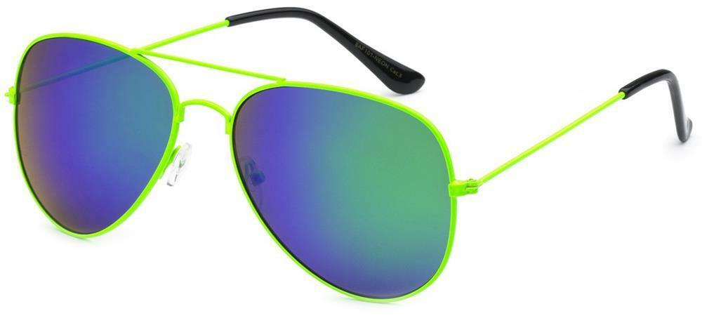 New Womens Air Force Sunglasses Aviator Sexy Sport Shades Neon Colors BOGO 50%