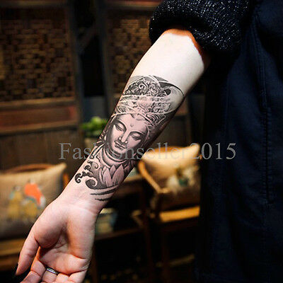Temporary Tattoos Large Arm Fake Transfer Tattoo Stickers Sexy Spray Waterproof