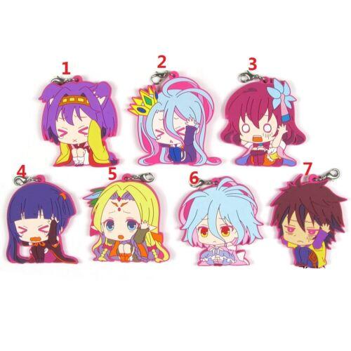 NO GAME NO LIFE Anime Figure Rubber Strap Charm Keychain Keyring Pendant Izuna