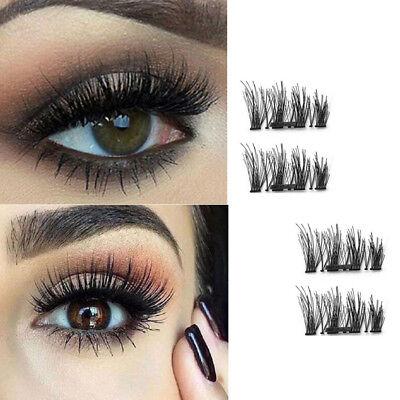 3535d43141d Details about Single/Double/Three Magnetic 3D False Eyelashes 4pcs Long  Natural Eye Lashes US