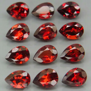 9-19-Cts-12pcs-7-0x5-0mm-Natural-Red-Mozambique-GARNET-for-Jewelry-Setting-Pear