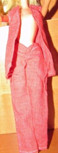 VINTAGE BARBIE CONTEMPORARY RED VEST RED PANTS OUTFIT