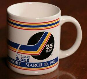 Vintage-90s-St-Louis-Blues-Maxwell-House-Coffee-Mug-Night-1992-Cup-Hockey-NHL