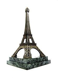 RARE-ART-DECO-EIFEL-TOWER-SCULPTURE-METALL-ON-MARBLE-ANTIQUE-STATUE-FRANCE-1930