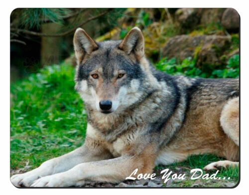 DAD-153M Wolf /'Love You Dad/' Computer Mouse Mat Christmas Gift Idea