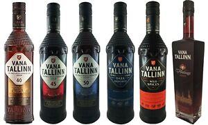 Vana Tallinn Rum Likör 6er Set 35% & 40% & 45% & 50% Vol. Estland Spirituose