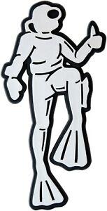 Auto-3D-Relief-Schild-Taucher-Diver-10-cm-Emblem-HR-Art-4858-selbstklebend