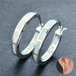 Women Small Fox Animal Opal Stone Ear Studs Earrings Jewelry Present J