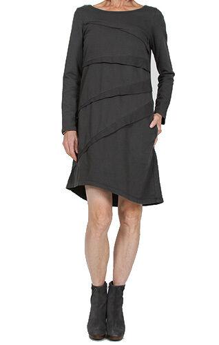 NEW Prairie Underground Darted Elipse Dress GRAPHITE