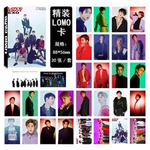 30Pcs-set-KPOP-EXO-Album-LOVE-SHOT-Poster-PhotoCard-Lomo-Card-Photo-Card